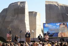 President Joe Biden and Vice President Kamala Harris attend the 10th anniversary of the dedication of the Martin Luther King Jr. Memorial in northwest D.C. on Oct. 21. (Courtesy photo)