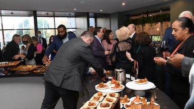"""The appetizers were plentiful at the Fred & Stilla restaurant located in The Ven at Embassy Row during an event which premiered the restaurant's """"Global Table"""" theme menu featuring dishes representing various countries. (Anthony Tilghman/ The Washington Informer)"""