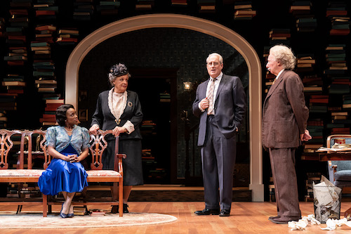 """The cast of """"My Lord, What a Night"""" includes (from left) Felicia Curry as Marian Anderson, Fanchelle Stewart Dorn as Mary Church Terrell, Michael Russotto as Abraham Flexner and Christopher Bloch as Albert Einstein. The play is at Ford's Theatre until Oct. 24. (Courtesy of Ford's Theatre)"""