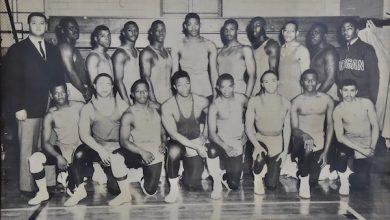 Morgan State University wrestling team, circa 1960s (Courtesy of Morgan State University)