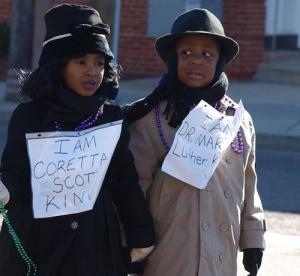 Martin Luther King Jr. and his wife Coretta were celebrated by young and old alike during the 2016 MLK Peace Walk & Parade. (Shantella Y. Sherman/The Washington Informer)